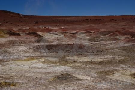 South america geyser geiser sol de manana rock altitude.