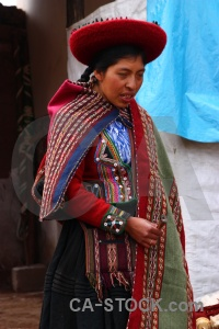 South america hat person landscape chinchero.
