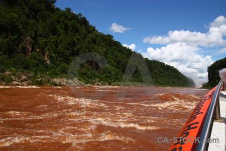 South america iguacu falls argentina river iguassu.