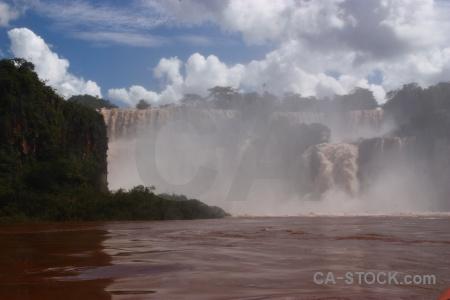 South america iguacu falls river water iguazu.