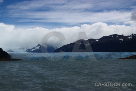 South america lake terminus mountain glacier.