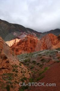 South america landscape cerro de los siete colores cloud sky.