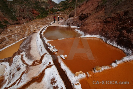 South america maras salt mine altitude water.
