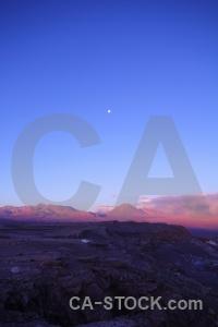 South america moon volcano san pedro de atacama sky.