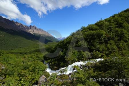 South america patagonia river el chalten landscape.