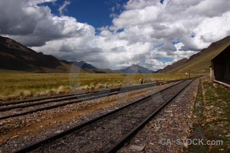 South america railway altitude track mountain.