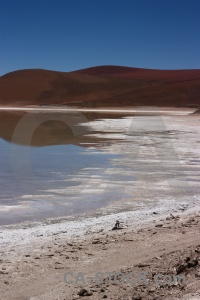 South america reflection bolivia landscape laguna verde.