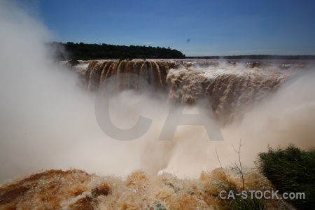 South america river iguassu falls argentina water.