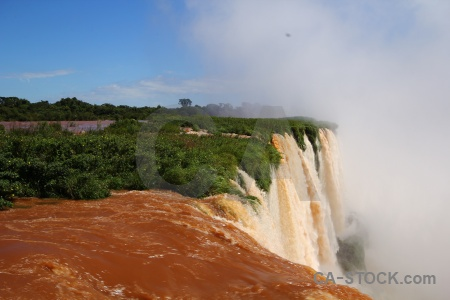 South america river unesco iguazu falls.