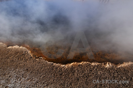 South america rock el tatio andes atacama desert.