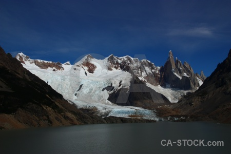 South america snow water argentina patagonia.