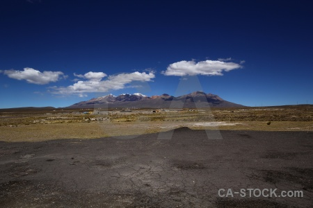 South america snowcap sky cloud landscape.