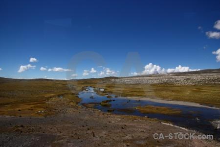South america stream crucero alto peru landscape.