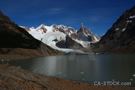 South america terminus lake glacier water.