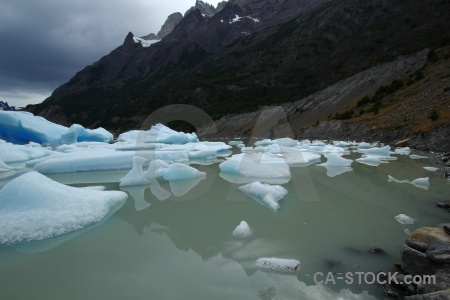 South america torres del paine trek cloud ice.