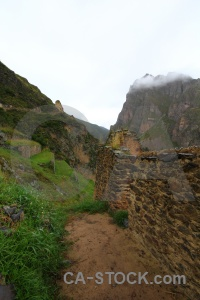 South america urubamba valley mountain ollantaytambo altitude.