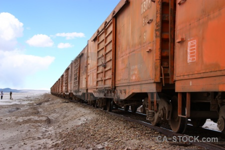 South america vehicle train carriage salt flat.