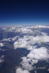 South asia everest mountain airplane cloud.
