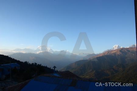 South asia himalayan dhampus peak ghoreapani landscape.