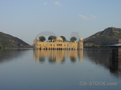 South asia india cloud hill jal mahal.