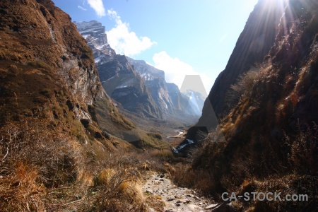 South asia landscape sky nepal mountain.