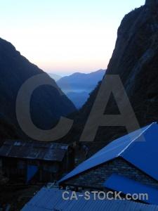 South asia mountain deurali annapurna sanctuary trek sky.