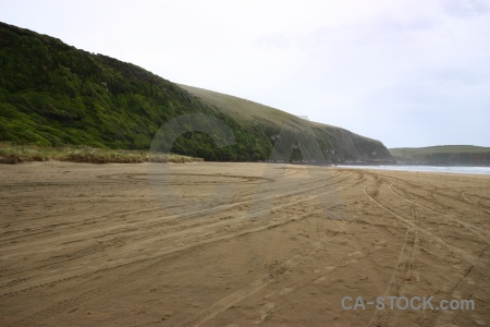 South island catlins new zealand sand sea.