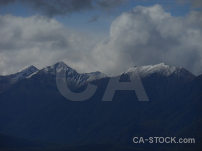 South island manapouri sky snowcap new zealand.
