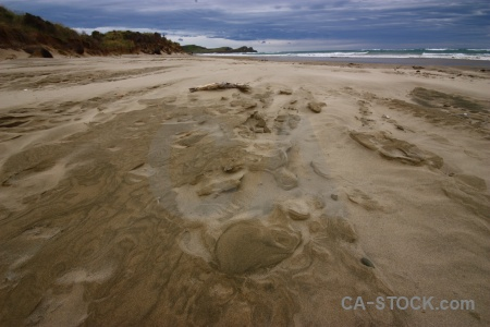South island wave catlins sand landscape.