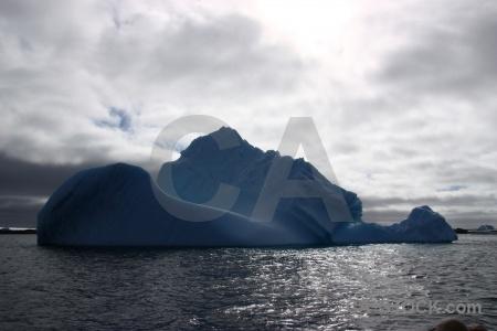 South pole cloud water iceberg sky.