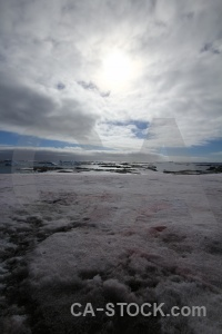 South pole cloud winter island sky snow.