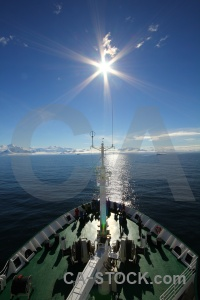 South pole ship sun antarctica cruise marguerite bay.