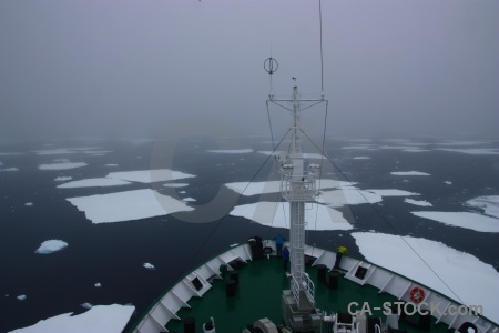 South pole sky crystal sound boat sea ice.