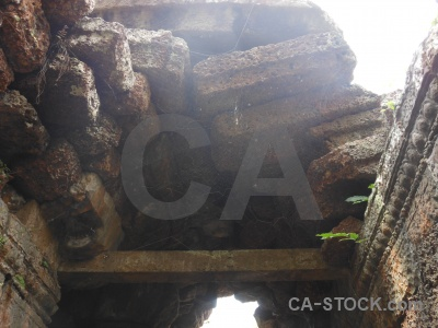 Southeast asia banteay kdei siem reap stone spider.