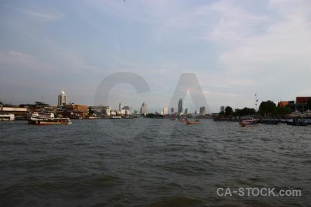Southeast asia boat sky cloud thailand.