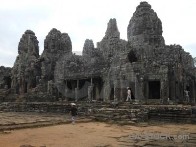 Southeast asia buddhism fungus ruin block.
