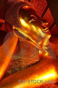 Southeast asia buddhist buddha temple of the reclining thailand.