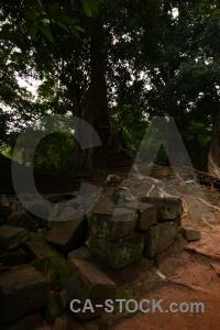 Southeast asia buddhist ruin angkor thom.