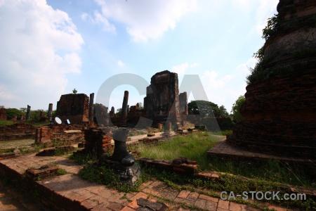 Southeast asia buddhist sky ayutthaya temple.