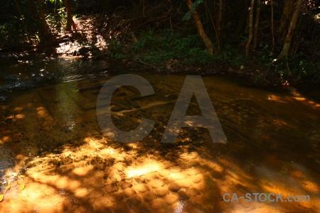 Southeast asia cambodia rock kbal spien water.