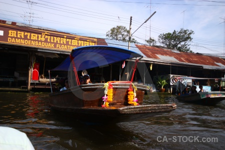 Southeast asia canal ton khem market floating.
