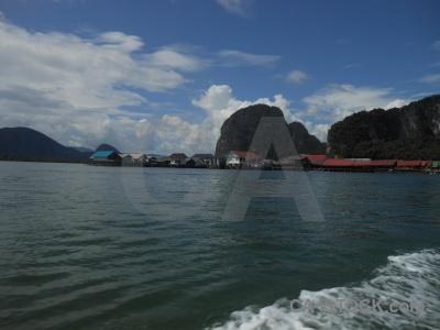 Southeast asia cliff phang nga bay ko panyi koh panyee.