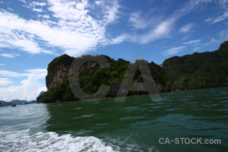 Southeast asia cliff phang nga bay tropical sky.