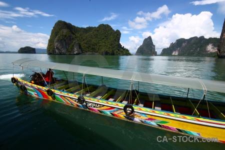 Southeast asia cliff thailand island sea.