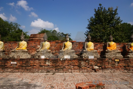 Southeast asia cloud buddha unesco brick.