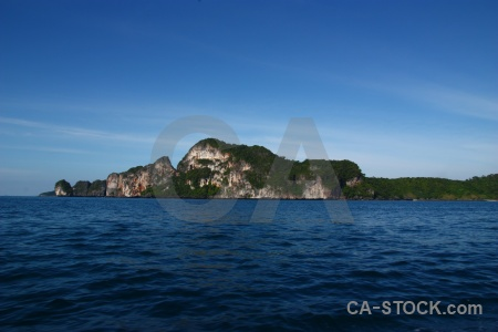 Southeast asia cloud ko phi don limestone island.
