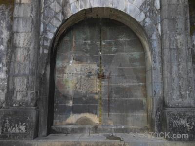 Southeast asia door archway block unesco.