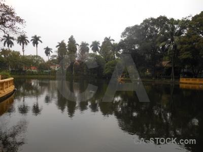 Southeast asia ho chi minh tree lake vietnam.