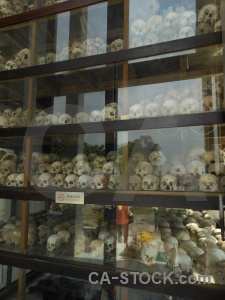 Southeast asia khmer rouge cambodia choeung ek skull.