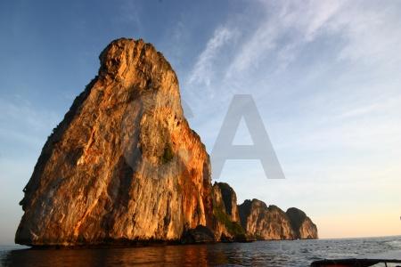 Southeast asia ko phi leh limestone cliff sky.